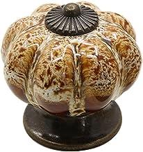 Fenteer Keramische ronde pompoen deur kast handvat meubelgrepen meubelknoppen meubelknop - beige