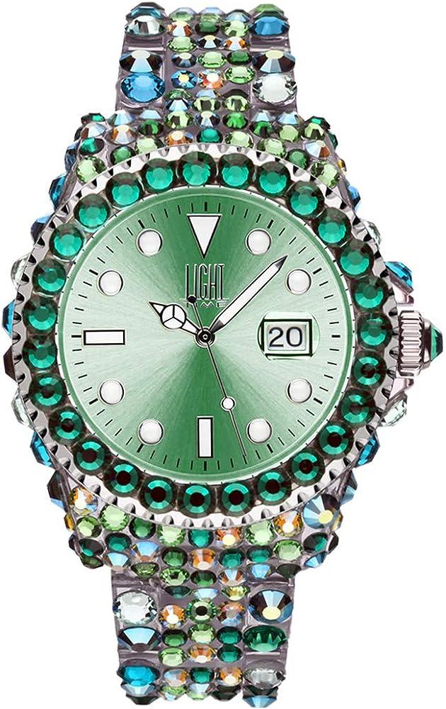 Light time mediterraneo, orologio per donna, in policarbonato con 300 cristalli preciosa L602M