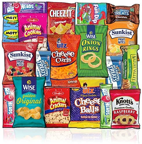 Snacks Box 20 Count Ultimate Sampler Mixed Box Cookies Chips Candy Care Package for Office Meetings product image