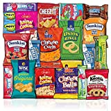 Snacks Box (20 Count) Ultimate Sampler Mixed Box, Cookies Chips Candy Care Package for Office Meetings Schools Friends & Family Military College, Easter Gift Baskets, Snack Variety Pack