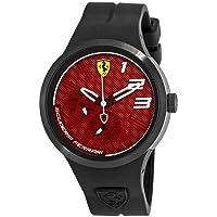 Ferrari FXX Red Dial Black Silicone Men's Watch