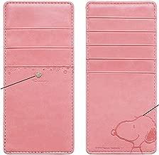 スヌーピー インナーカードケース 薄型 長財布 カードケース (ピンク)