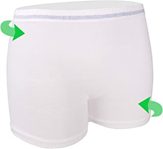 Mesh Underwear Postpartum 4 Count Disposable Postpartum Underwear Hospital Mesh Panties for Post C-Section, Maternity Briefs - Washable | Stretchy,High Waist Mesh Postpartum Underwear Women(L)