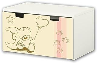 comprar comparacion Mundo de Knuddel pegatina | pegatinas para muebles | BT10 | adecuado para el arcón de banco STUVA de IKEA para niños (90 x...