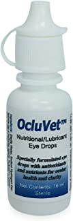 OcluVet Eye Drops for Pets - Scientifically Formulated, Patented, and Clinically Studied Antioxidants for Pets with Cataracts - Includes N-acetylcarnosine (NAC) - 16mL