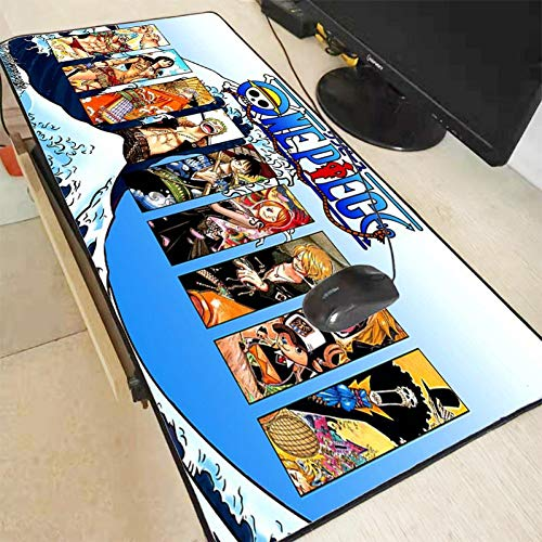 AUUUA alfombrilla de ratón One Piece Mouse Pad Gaming Mouse Pad Large Cartoon Anime Rubber Mouse Pad Keyboard Mat Table Mat Pc Mousepads