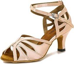 TTdancewear Ballroom Dance Shoes Women Salsa Latin Practice Dancing Shoes Low Heel