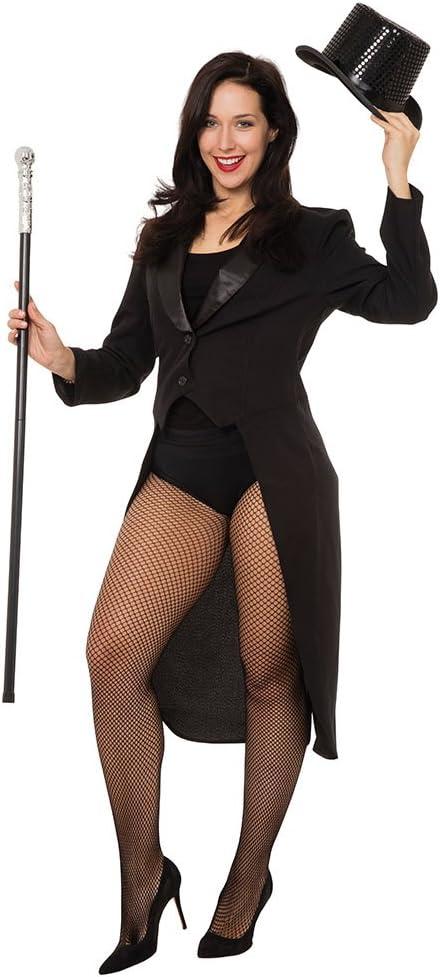 Pin Up Girl Costumes | Pin Up Costumes Bristol Novelty AC720 Tailcoat Black Female 38/40 Mens Medium  AT vintagedancer.com