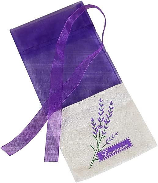 Vosarea 30 个空香袋袋香水薰衣草香袋袋袋钱包深紫色