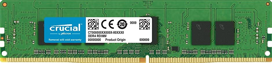 Crucial Technology 4GB 288-Pin RDIMM DDR4 (PC4-21300) Memory Module, CL=19, Registered, 2666 MT/S Speed, ECC, 1.2V, 512Meg x 72, Single Ranked, x8 Based