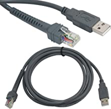 BlastCase 1 X USB A Male to RJ45 Cable 7ft 2M for Symbol Barcode Scanner LS4278 LS2208 2208AP