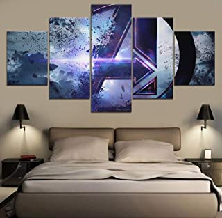 Artwap Painting 5 Pieces Modular Pictures Modern Canvas Framework Hd Printed Home Decor Living Room Wall Art Painting Anime Steins Gate The Role Pictures Posters Size1