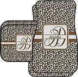 RNK Shops Leopard Print Car Floor Mats Set - 2 Front & 2 Back (Personalized)