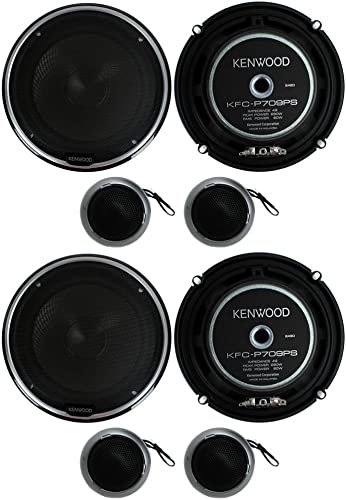 4) New Kenwood KFC-P709PS 6.5″ 560W Car Audio Component Speaker Systems Stereo