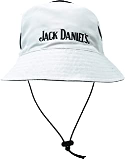 Jack Daniel's Official Reversible Bucket Hat – White Side Features Embroidered Logo - Black Side Features Old No. 7 Rubber Logo – Lightweight Polytec Material