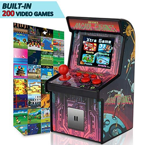 GBD Kids Mini Retro Arcade Game Consoles Machine 200 Handheld Video Games Cabinet 2.5' Display Joystick Travel Portable Game Player Kids Teens Boys Girls Holiday Toys Valentines Day Birthday Gifts