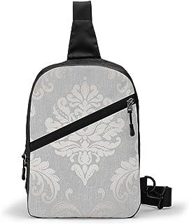 Chelsea Glitter Damasco suave gris plata paquete de pecho Multiusos Crossbody al aire libre bolsa de hombro mochila mochila de gran capacidad casual deporte mochila para senderismo viaje deporte