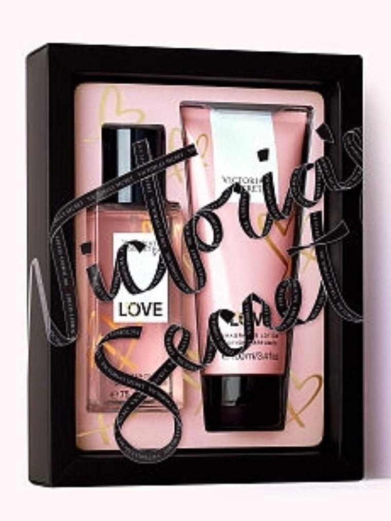 コード器具イースターVictoria's Secret 2.5 oz香りミストと3.4オンスのフレグランスローションWミストやローションセットを愛し