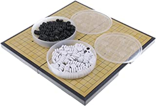 MagiDeal Chinese Board Game Weiqi Checkers Folding Table Magnetic Go Chess Game Set