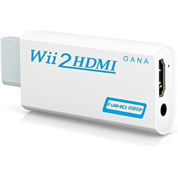Wii to hdmi Converter, Gana wii to hdmi Adapter, wii to hdmi1080p 720p Connector Output Video & 3.5mm Audio - Supports All Wii Display Modes