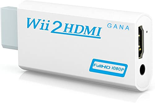 Wii to hdmi Converter, Gana wii to hdmi Adapter, wii to hdmi1080p 720p Connector Output Video & 3.5mm Audio - Support...