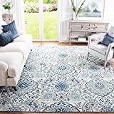 Safavieh Madison Collection MAD600C Boho Chic Glam Paisley Non-Shedding Stain Resistant Living Room Bedroom Area Rug, 10' x 14', Cream / Light Grey