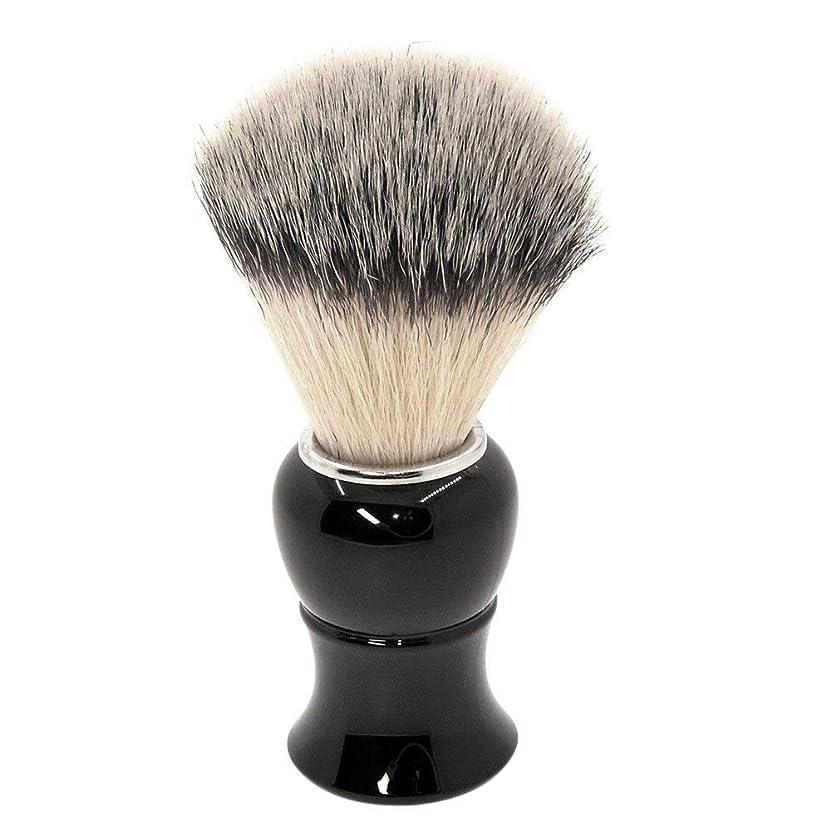 アトミック継続中タイプあごひげケア 美容ツール シェービング ブラシ 泡立ち アナグマ 毛 理容 洗顔 髭剃り マッサージ 効果