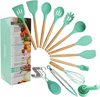DXDJY-XHL Siliconen keukenhulpset, hittebestendige 32-delige siliconenset van milieuvriendelijke anti-aanbakspatel met hou...