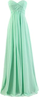 Sweetheart Bridesmaid Chiffon Prom Dresses Long Evening Gowns