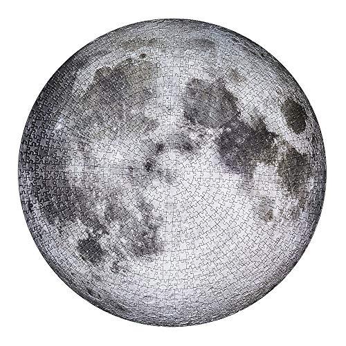 Quebra-cabeças circulares, 1000 peças ZSGG Moon Earth Australia Europe Jigsaw, presentes educativos para meninos e meninas