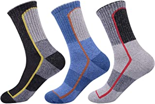 Mens Wool Crew Socks Athletic Warm Cushion for Men 3 Pack