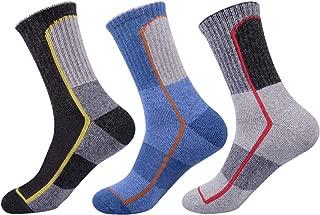 Mens Wool Crew Socks Athletic Warm Cushion for Men 3 Pack