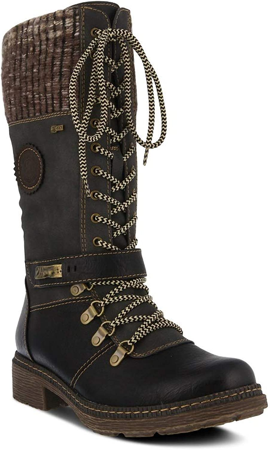Spring Step Women's Ababi Boot   color Black  Winter Vegan Leather Boot