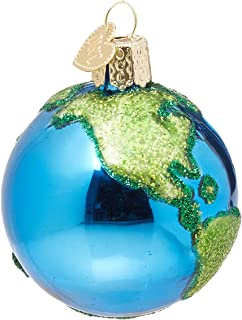 Old World Christmas 22038 Outer Space Gifts Glass Blown Ornaments, Planet Earth