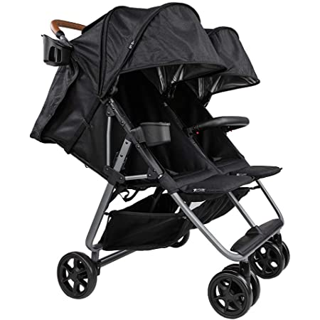 Zoe Twin+ Luxe (Zoe XL2) Stroller - Best Lightweight Double Stroller for Toddlers - Everyday Twin Stroller with Umbrella - UPF 50+ - Tandem Capable