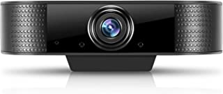 HOBFU Webcam HD 1080P cámara web con micrófono/altavoz para PC/Mac/portátil/escritorio, cámara web stream, 30 fps, USB, compatible con Youtube/Skype/Facebook/Zoom Live Stream negro negro