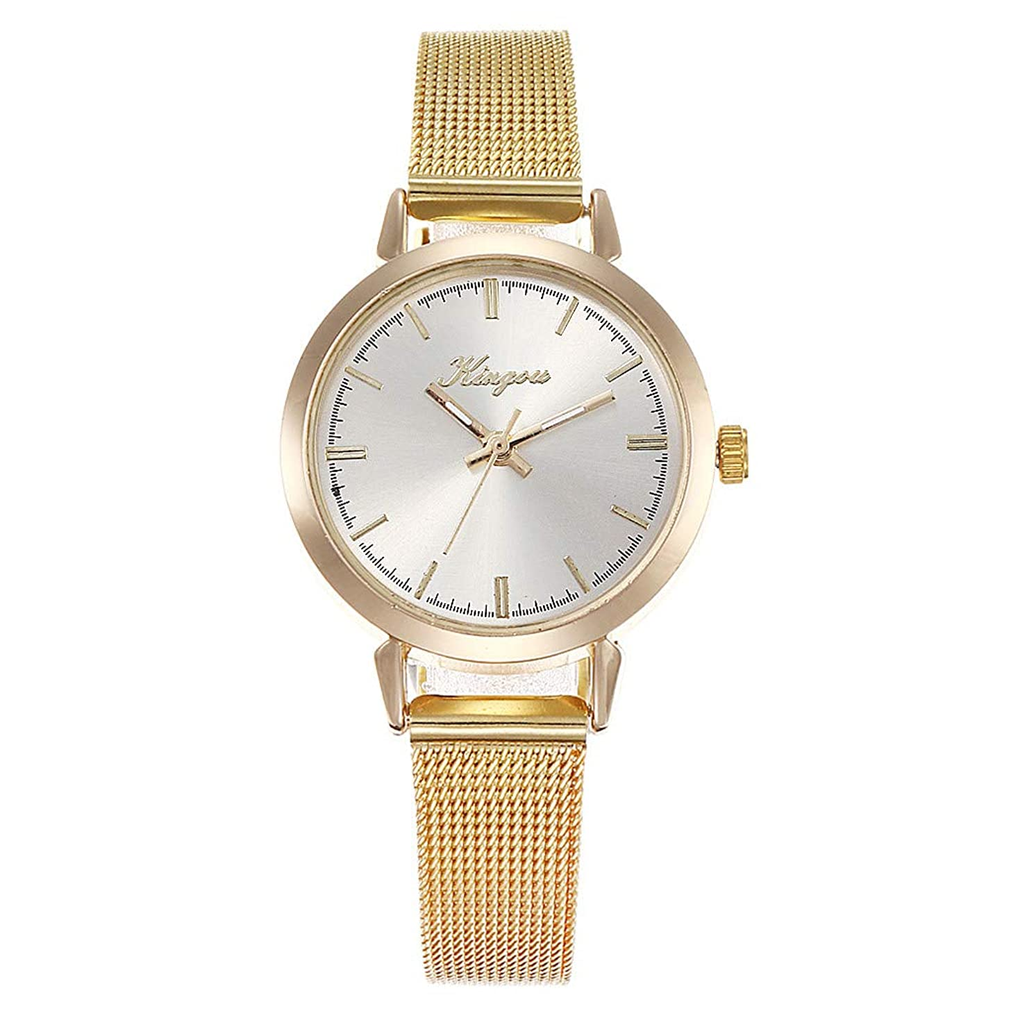 LUCAMORE Women Watch Fashion Quartz Mesh Wristwatch Gifts Luxury Stainless Steel Band Analog Business Watches
