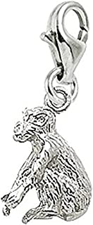 Monkey Charm With Lobster Claw Clasp, Charms for Bracelets and Necklaces