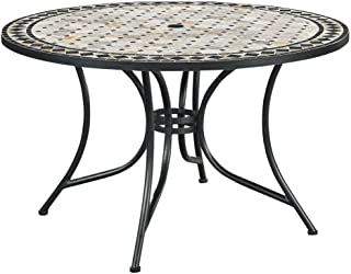 Marble Top Round Outdoor Dining Table by Home Styles