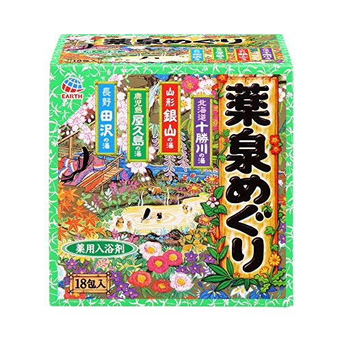 Japanese Hot Spring Bath Powders - 30g X 18 Packs (japan import)