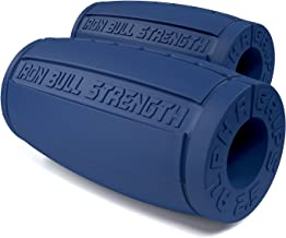 Alpha Grips 2.5 - Extreme Arm Blaster - Best Dumbbell and Barbell Thick Bar Adapter (Blue)