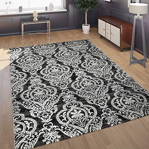 Paco Home Designer Teppich Moderne Ornamente Muster Wohnzimmerteppich Grau Blau, Grösse:200x290 cm