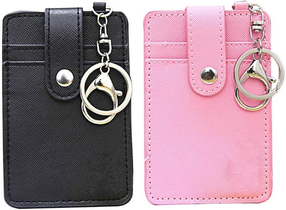 RAYNAG Set of 2 Ranking TOP18 Women's Sale special price Faux Credit Slim Holder Card Id Leather