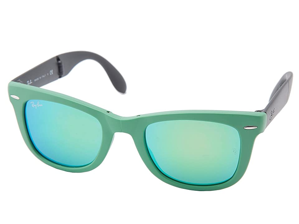 Ray-Ban RB4105 Wayfarer Folding 50mm (Green) Plastic Frame Fashion Sunglasses