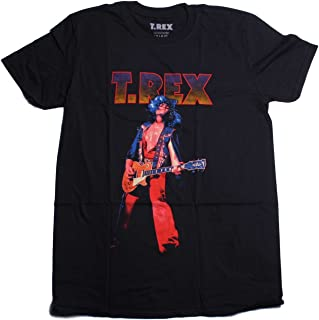 T-Rex T Shirt - Marc on Stage Multi-Colour Retro Distressed Style 100% Official