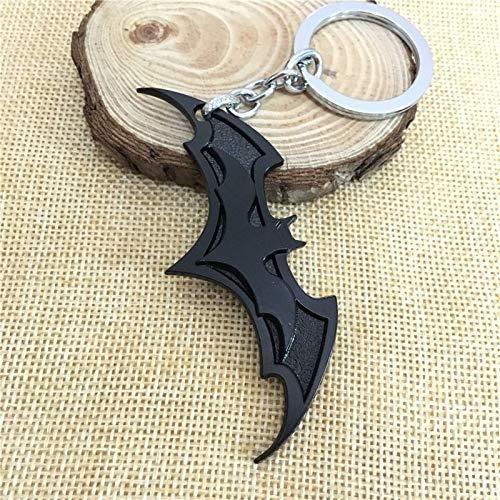 Porte-clés tendance 2020 avec motif Avengers Union Batman pour sac à main, pendentif de voiture, chaîne pour homme ou femme (Noir)