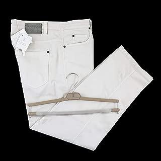Ivory Cotton Drawstring Pants Jeans 48/32