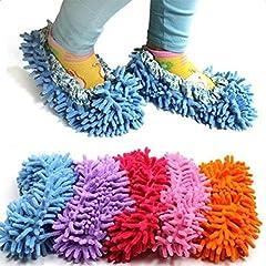 Idea Regalo - Lumanuby - 1 paio di pantofole pulenti per pulire i pavimenti in bagno, ufficio, cucina, un buon aiuto (colore casuale)
