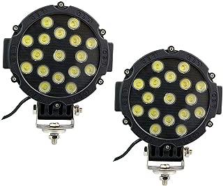 Lumitek 2X 51w 7inch Led Lights Spot Round Led Offroad Light Black Fog light LED Driving Light 12v Led Lights for Off-road Truck Car ATV SUV Jeep Boat 4wd ATV Auxiliary Driving Lamp