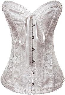 0571d87607 Y Fashion Womens Vintage Brocade Lace Boned Renaissance Corset